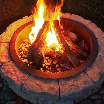 Firepit aglow